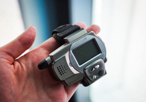 What was the first wristwatch with the ability to make phone calls?