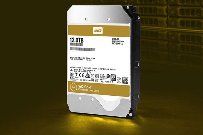 Western Digital Ships 12 TB WD Gold HDD: 8 Platters and Helium