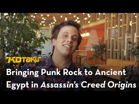 The writer of Assassin's Creed Origins was brought on because of a 'punk play' he wrote
