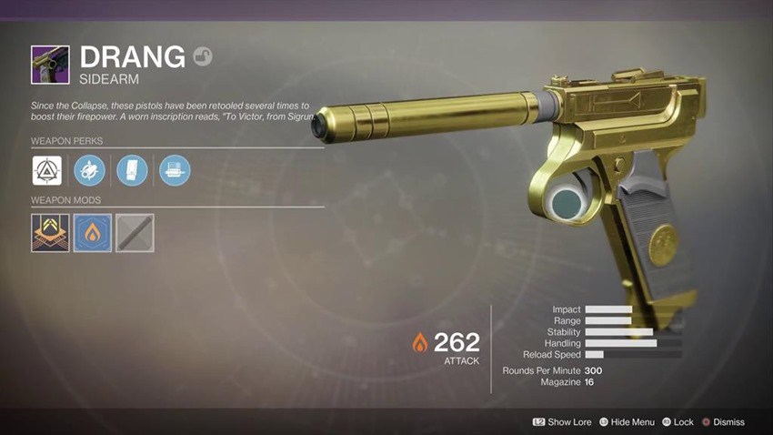 Destiny 2 Sturm and Drang: completing the Relics of the Golden Age quest to get these awesome reload-free weapons