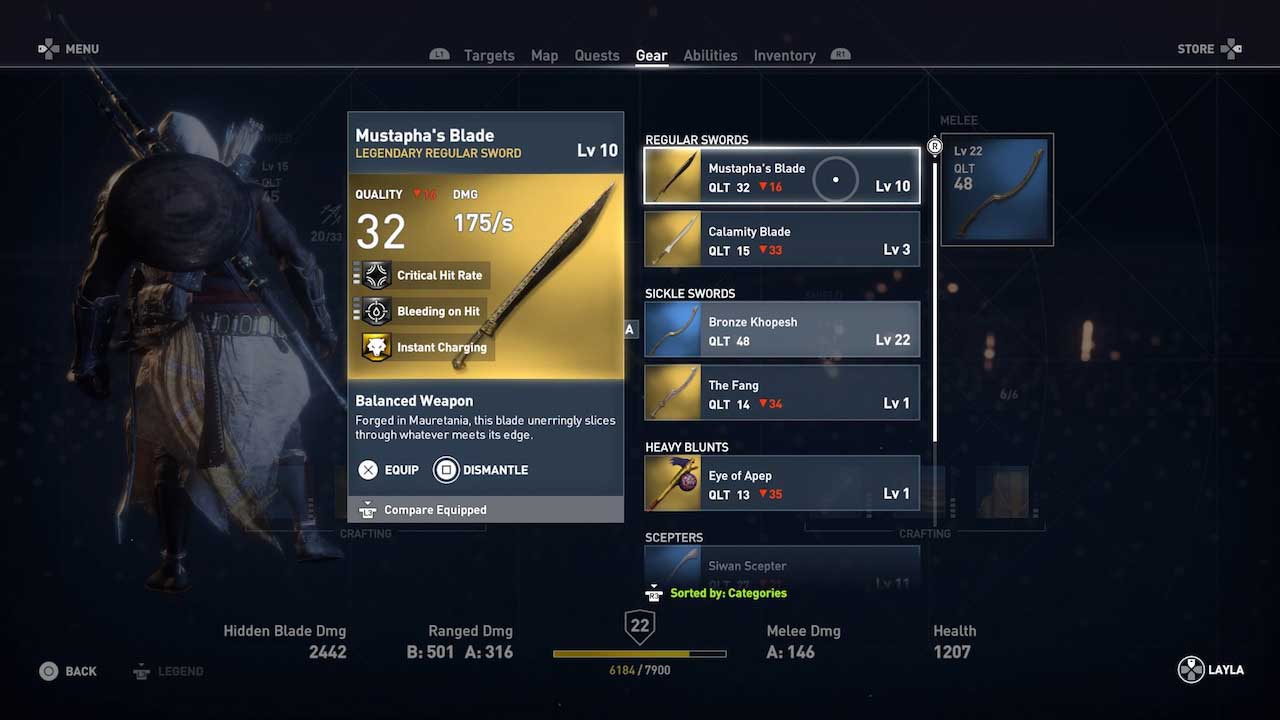 Assassin's Creed Origins: get and upgrade the best weapons and tools for the job