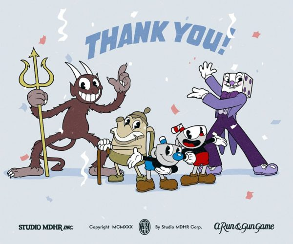 Cuphead sold over one million copies across PC and Xbox One in just two weeks