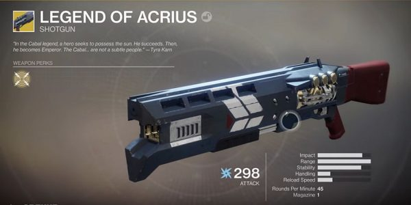 Destiny 2: how to get the Legend of Acrius Exotic Arc shotgun via On the Comms and Await the World-Eater