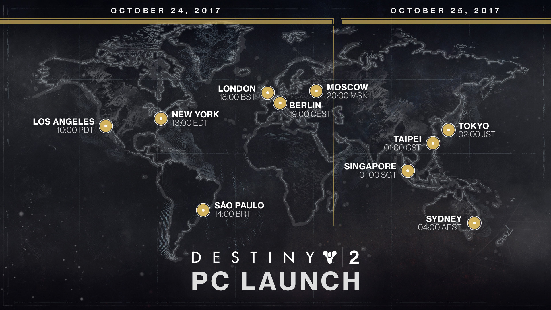 Here's what time Destiny 2 goes live on PC in your region