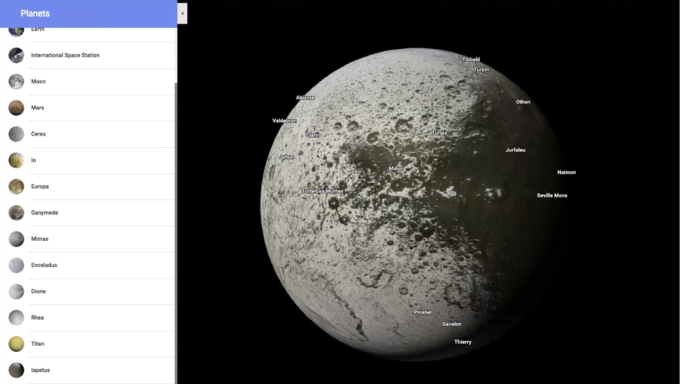 Google Maps now lets you explore your local planets and moons, too