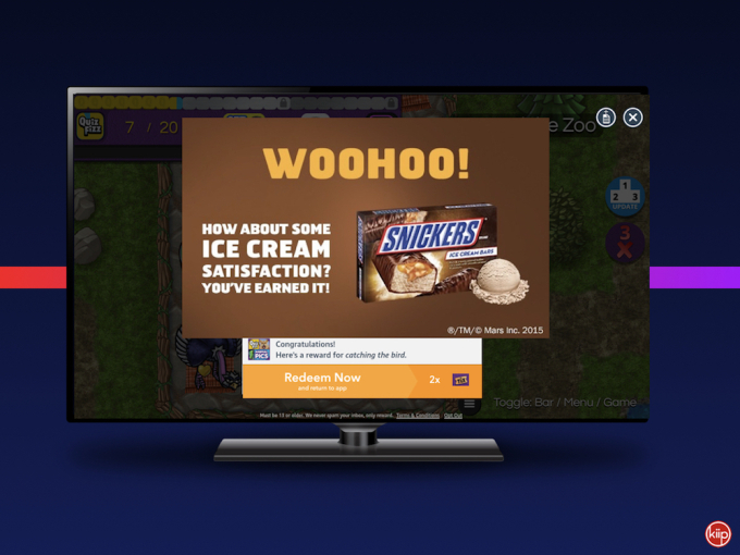 Kiip expands its mobile rewards platform to Amazon's Fire TV