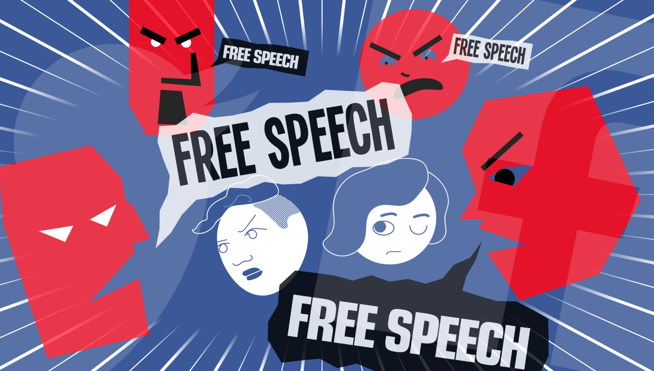 "Silenced by ""free speech"""