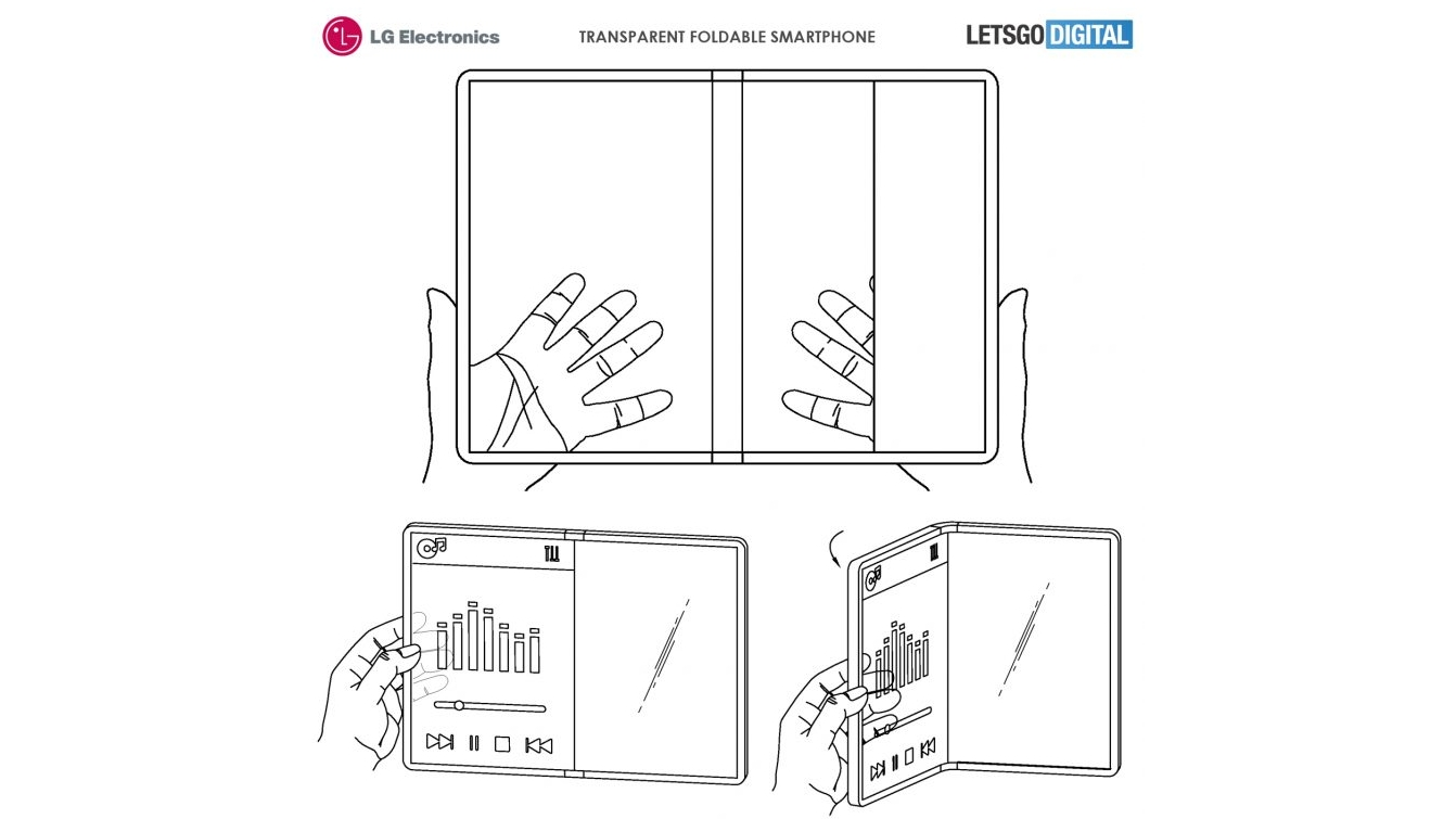 LG patent points to a transparent, foldable phone