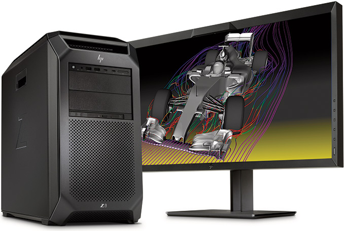 HP Updates Z8 Workstations: Up to 56 Cores, 3 TB RAM, 9 PCIe Slots, 1700W