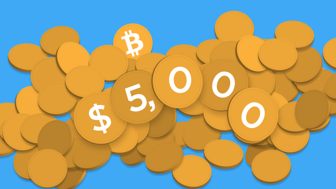 Bitcoin just passed $5,000