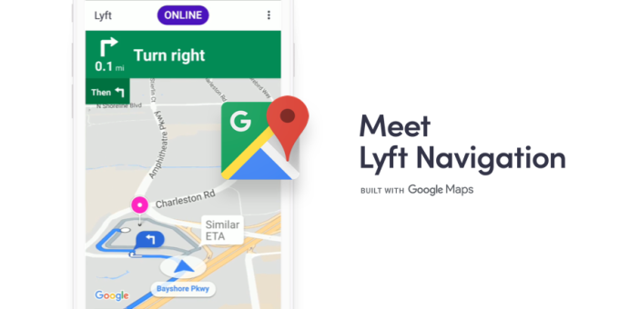 Lyft adds in-app navigation for drivers via Google Maps